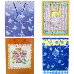 "120 Units of Premium Glitter Gift Bags, 9""x7""x4"" - Gift Bags Everyday"