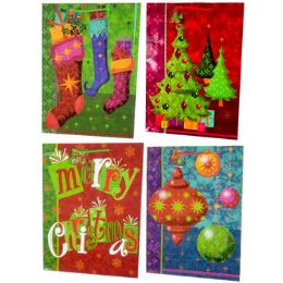 "128 Units of Christmas Gift Bags - Ex. Large Size - 17.5"" X 13"" X 4"" - Gift Bags Christmas"