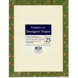 36 Units of Green Border Invitation Paper - Paper