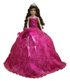 "12 Units of 18"" QUINCEANERA DOLL - HOT PINK - Dolls"