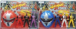 36 Units of 5.5 IN ACTION FIGURES WITH MASK - Action Figures & Robots