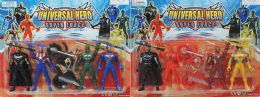 72 Units of 5.5 IN ACTION FIGURES WITH MOTORCYCLE - Action Figures & Robots