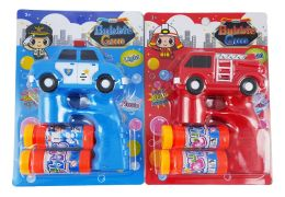 48 Units of FIRE TRUCK AND POLICE W/ LIGHT & MUSIC - Bubbles