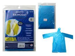 144 Units of Blue Adult Poncho Raincoat - Umbrellas & Rain Gear