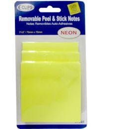 "48 Units of Neon Sticky Notes, 3"" X 3"", 150 Sheets - Sticky Note & Notepads"