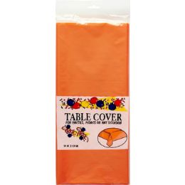48 Units of Plastic Table Cover - Orange - Table Cloth