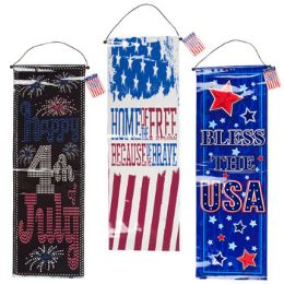72 Units of Patriotic Foil Banner - 4th Of July