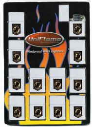 24 Units of Windproof Lighter In Polished Finish With Metal PoW-Mia Insignia - Lighters