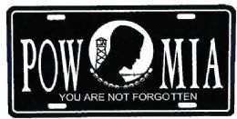 """24 Units of """"pow/mia You Are Not Forgotten"""" Metal License Plate - Auto Accessories"""