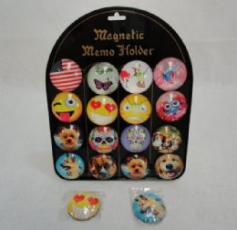 """120 Units of .2"""" Round Dome Magnets [fruits & Kitchen] - Refrigerator Magnets"""