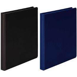 """12 Units of 1/2"""" Black And Blue Vinyl Binder - Binders"""