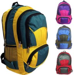 """30 Units of 18 Inch Premium Quality Heavy Duty Construction Water Resistant Unisex Quilted Design Backpack For Back To School - Backpacks 18"""" or Larger"""