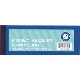 "72 Units of Money Receipt Form - 3"" x 8"" - 25 sets - Receipt book"