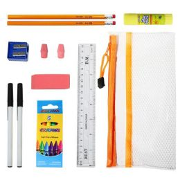 48 Units of 16 Piece Wholesale Kids School Supply Kit - School Supply Kits