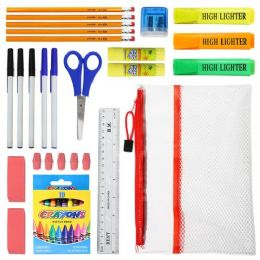 48 Units of 20 Piece Kids School Supply Kit - School Supply Kits
