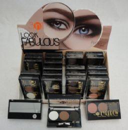 24 Units of 3 Natural Color Eye Shadow - Eye Shadow & Mascara