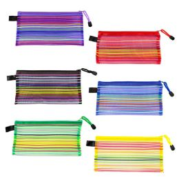 96 Units of Kids Colored Acrylic Pencil Case in 6 Assorted Colors - School Supplies - Pencil Boxes & Pouches