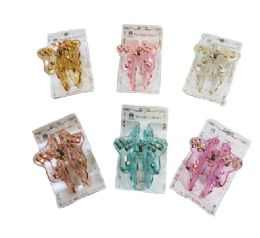 "12 Units of 3"" Pastel Claw Clip - Clips and Fasteners"