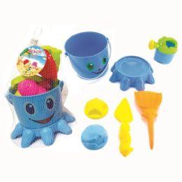 24 Units of Seven Piece Beach Bucket Set - Beach Toys