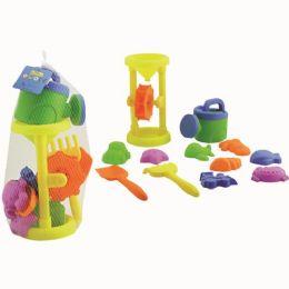 24 Units of Twelve Piece Beach Sand Play Set - Beach Toys