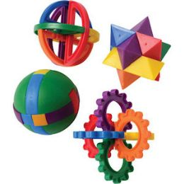 144 Units of Plastic Puzzle Ball Assortments - Balls