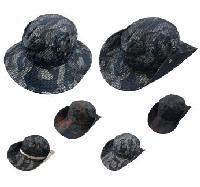 12 Units of MULTICAM BOONIE [MILITARY CAMO ASSORTMENT] *MESH OVERLAY - Cowboy & Boonie Hat