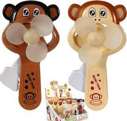 48 Units of Friction Powered Lovey Monkey Mini Fans - Home Decor