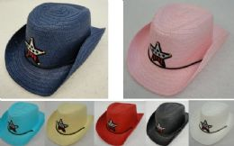 24 Units of Child's Cowboy Hat With Sparkle Star - Costumes & Accessories