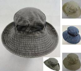 12 Units of Cotton Washed Floppy Mesh Boonie - Cowboy & Boonie Hat