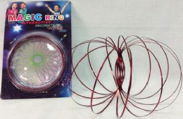 12 Units of Wholesale Red Flow Ring Magic Ring Kinetic Spring Toy - Educational Toys