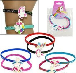 120 Units of 2 Pieces Silicone Rainbow Unicorn Friendship Bracelets Set - Bracelets
