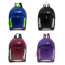 "24 Units of Backpack In 4 Assorted Colors 17"" - Backpacks 17"""