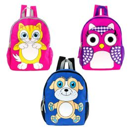 "24 Units of 17"" Backpack In 3 Assorted Animal Prints - Backpacks 17"""
