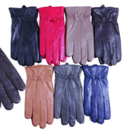 36 Units of Womes Leather Gloves Assorted Colors, 36 Pairs - Leather Gloves