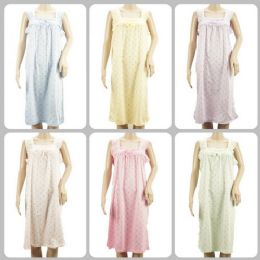 24 Units of Women Pajama Night Gown Small Flower Print Assorted - Womens Leggings