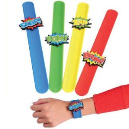 48 Units of Superhero Slap Bracelets - Bracelets