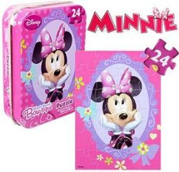 36 Units of Disney's Minnie Mousen Mini Jigsaw Puzzle Tins - Puzzles