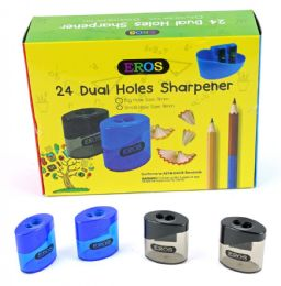 96 Units of Dual Hole Sharpener with/ Round Receptacle - Sharpeners