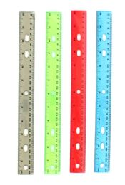 """240 Units of 12"""" Clear Rulers - Choose Your Colors - Sharpeners"""