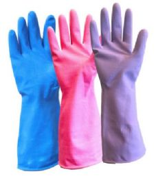 120 Units of Latex Gloves Medium/Large - Pink - Kitchen Gloves