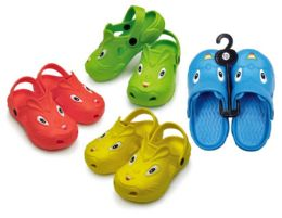 48 Units of Toddler's Animal Clogs - Assorted Colors - Unisex Footwear