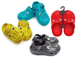 48 Units of Toddler's Dragon Clogs - Assorted Colors - Unisex Footwear