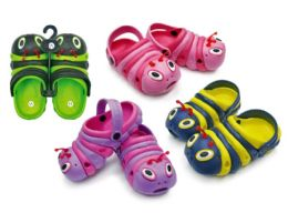 48 Units of Toddler's Caterpillar Clogs - Assorted Colors - Unisex Footwear