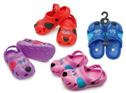 48 Units of Toddler's Dog Clogs - Assorted Colors - Unisex Footwear
