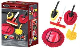 12 Units of Car Cleaning Set - 5-Piece - Auto Cleaning Supplies