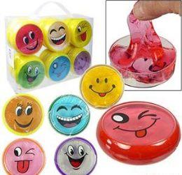 """48 Units of 3"""" Emoji Crystal Mud Slime - Slime & Squishees"""