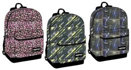 "24 Units of 17"" Backpacks W/ Front Zipper Pocket - Assorted Prints - Backpacks 17"""