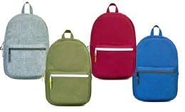 "24 Units of 17"" Laptop Backpacks W/ Organizer Pocket - Assorted Colors - Backpacks 17"""