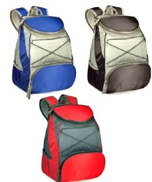 """24 Units of 11"""" Insulated Cooler Backpacks - Assorted Colors - Lunch Bags & Accessories"""