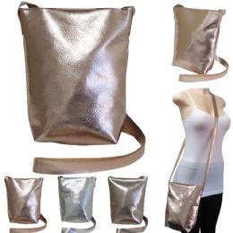 "36 Units of 10"" Metallic Crossbody Bags - Assorted Colors - Shoulder Bags & Messenger Bags"
